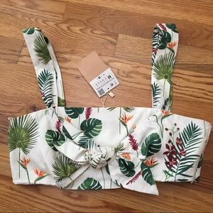 NWT Zara Island Cropped top